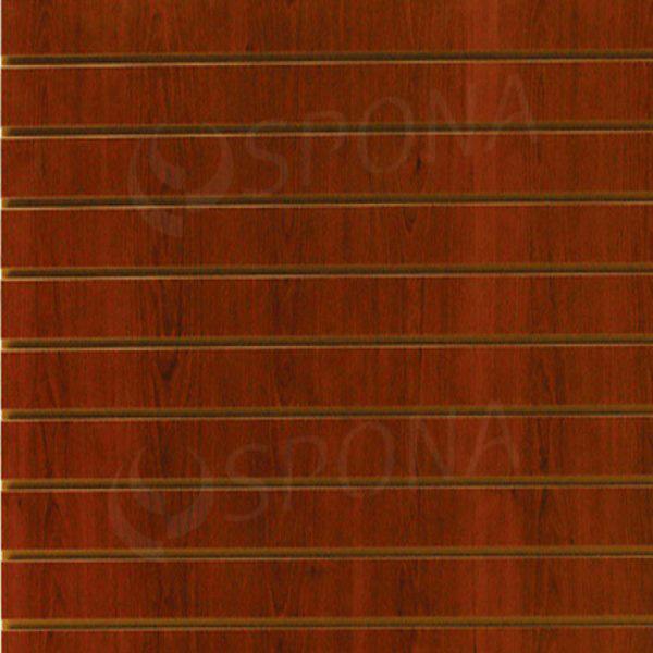 SLAT DREAM panel 120,5 x 122 cm, 7 drážok v rozostupe 15 cm, bez insertov, čerešňa (cherry)