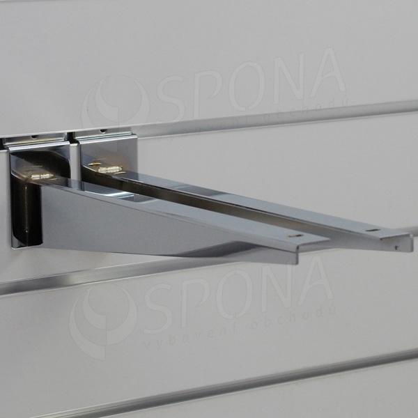 SLAT konzola koncová 350 mm, pár, chróm