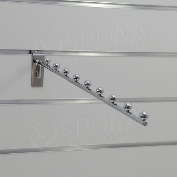 SLAT vodopád úzky 9 guľôčok, dĺžka 400 mm, sklon 05°, chróm