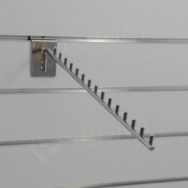 SLAT vodopád úzky 15 kolíčkov, 420 mm 15°, chróm