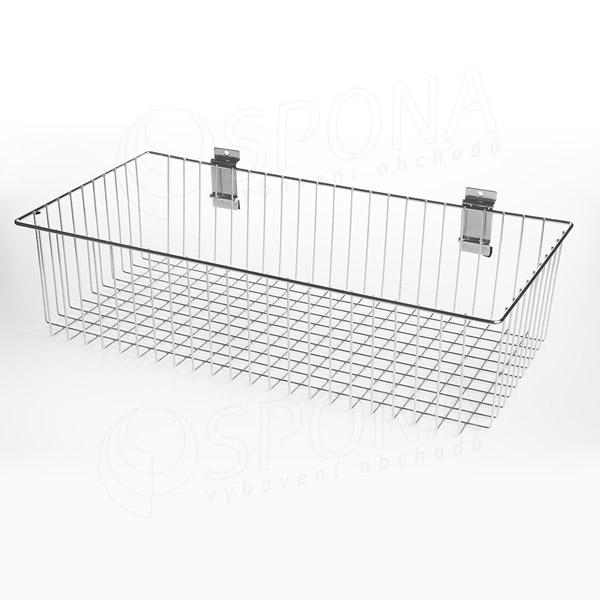 SLAT kôš drôtený 600 x 300 x 100 mm, chróm