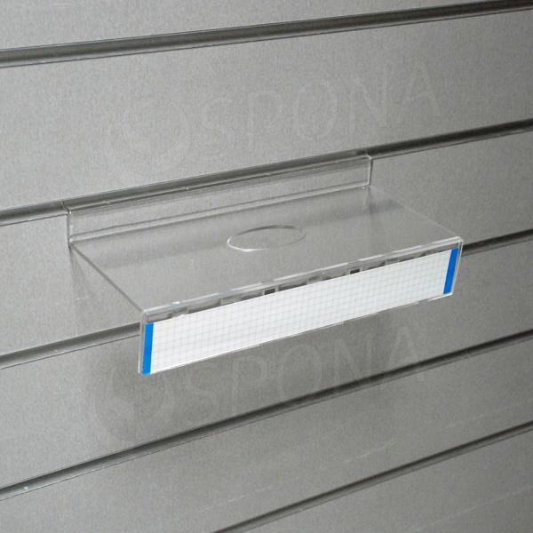 SLAT polica na topánky s čelom s dierou 100 x 250 mm, akryl