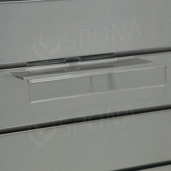 SLAT polica na topánky s predným ohybom 100 x 250 mm, akryl