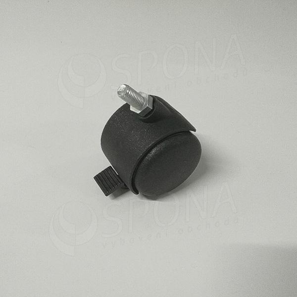Koliesko priemer 50 mm, závit M8 x 16 mm, s brzdou, plast