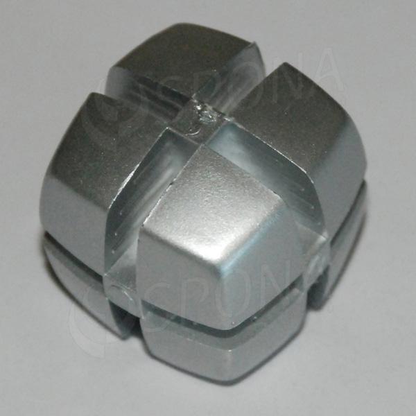 Kocka KUBIK 25 mm, pre sklo 4 mm, alu
