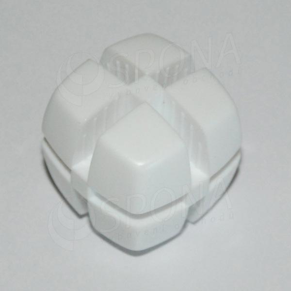Kocka KUBIK 25 mm, pre sklo 4 mm, biela