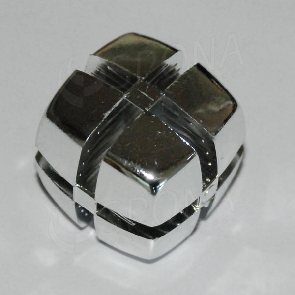 Kocka KUBIK 25 mm, pre sklo 4 mm, pochromovaná