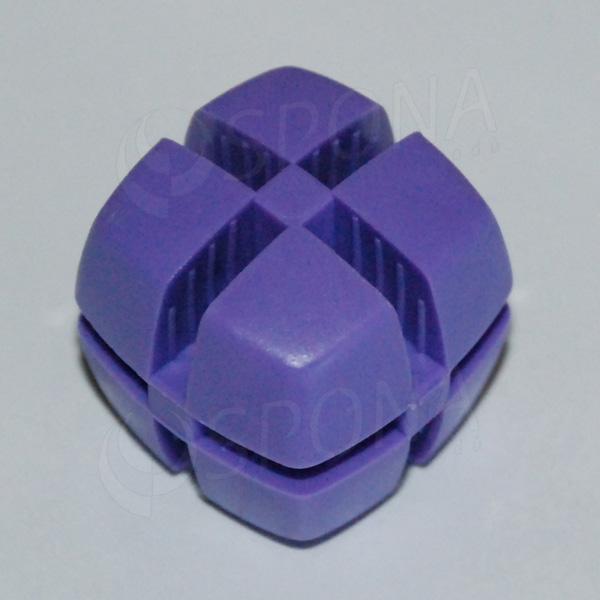 Kocka KUBIK 25 mm, pre sklo 4 mm, fialová