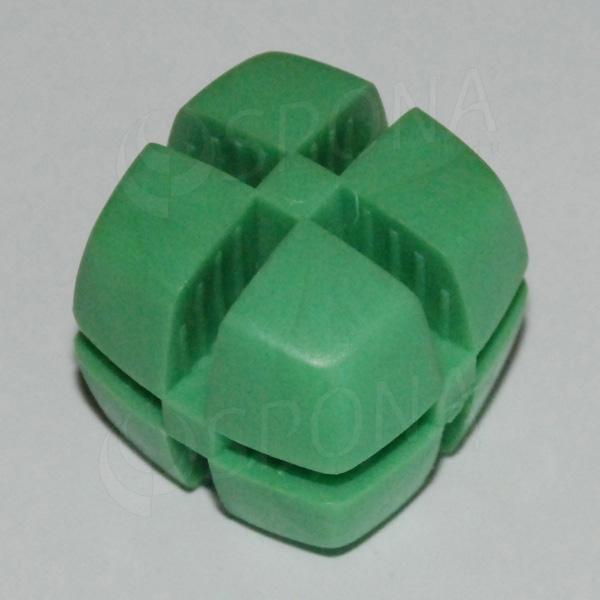 Kocka KUBIK 25 mm, pre sklo 4 mm, zelená