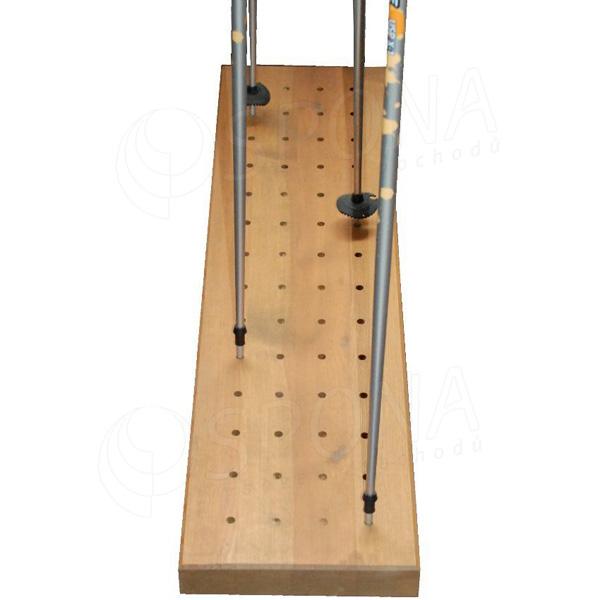 Stojan na lyžiarske palice 1250 x 300 x 55 masív, 4 x 14 dier priemer 12 mm