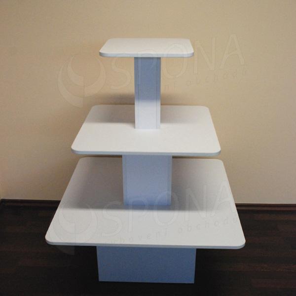 Gondola stredová - pyramída P 09/12, boky 90 cm, výška 117 cm, biela