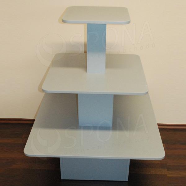 Gondola stredová - pyramída P 09/12, boky 90 cm, výška 117 cm, strieborná