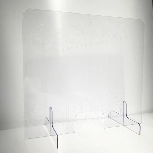 Ochranná stena na pult, 1000 x 900 mm, transparentná