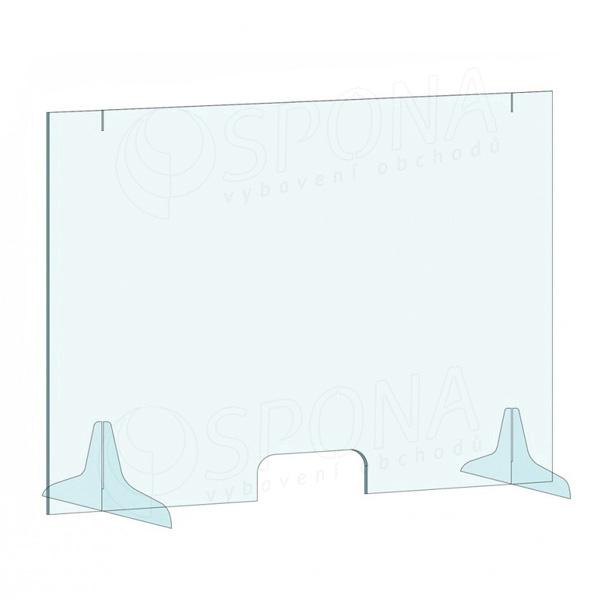 Ochranná stena na pult, 1000 x 800 mm, transparentná