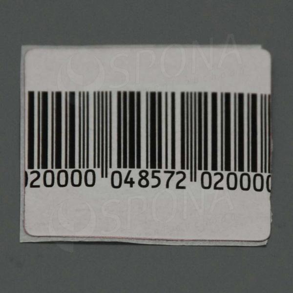 Bezpečnostná etiketa papierová, 40 x 40 mm, čiarový kód, frekvencia 8,2 MHz