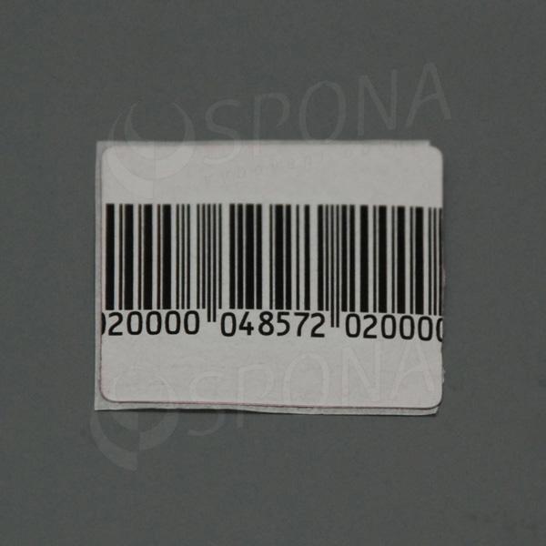 Bezpečnostná etiketa papierová, 50 x 50 mm, čiarový kód, frekvencia 8,2 MHz