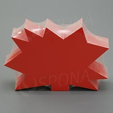 Visačky DREAMER Ježko 120 x 80, červené, 90 ks