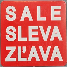 Visačky SKONTO ŠTVOREC 240, SALE, červené, 10 ks