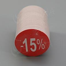 Visačky SKONTO KRUH 45, -15%, červené, 180 ks