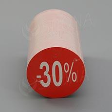 Visačky SKONTO KRUH 45, -30%, červené, 180 ks