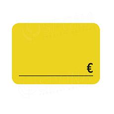 Cenovky DREAMER 75 x 52 mm, EUR, žlté, 100 ks