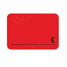 Cenovky DREAMER 105 x 75 mm, EUR, červené, 50 ks