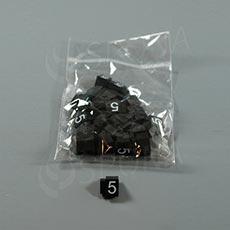 Cenovky Q 3, 6 x 9 mm, náhradné číslo 5, 20 ks