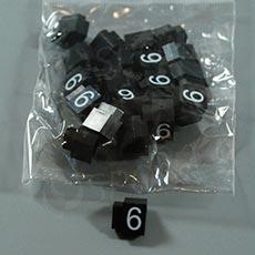 Cenovky Q 3, 6 x 9 mm, náhradné číslo 6, 20 ks