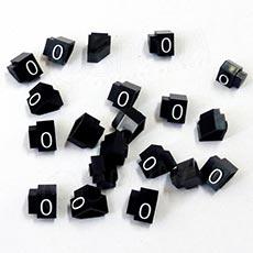Cenovky Q 2D, 4 x 6 mm, náhradné číslo 0, 20 ks, biely prelis