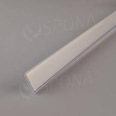 Cenovková lišta čelná 26 mm, 1 m, samolepiaca, biela