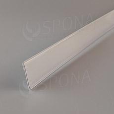 Cenovková lišta čelná 40 mm, 1 m, samolepiaca, biela