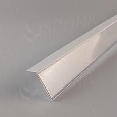 Cenovková lišta 40 x 997 mm, sklon 15°, samolepiaca, biela