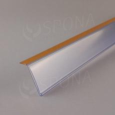 Cenovková lišta 40 x 997 mm, sklon 15 stupňov, samolepiaca, transparentná