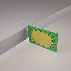 Držiak cenovky na cenovkovú lištu do 3 mm, transparentný plast