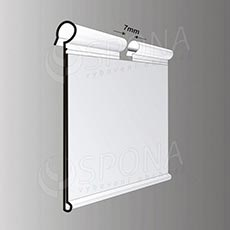 Cenovková lišta na drôt 39 x 60 mm, transparentná