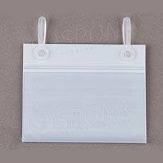 Cenovková lišta 40 mm x 80 mm závesná s úchytmi, biela