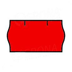 Etikety do klieští CONTACT, zaoblené, 22 x 12 mm, červené