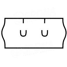 Etikety do kliešti, UNI 26 x 12, biele