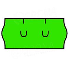 Etikety do kliešti, UNI 26 x 12, zelené