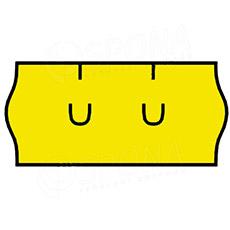 Etikety do kliešti, UNI 26 x 12, žlté