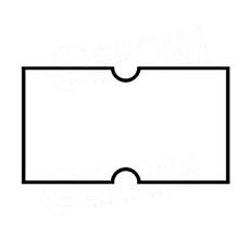 Etikety do klieští COLA-PLY, rovné, 22 x 12 mm, biele