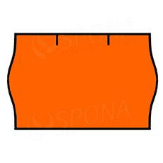 Etikety do klieští CONTACT, zaoblené, 25 x 16 mm, oranžové