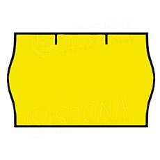 Etikety do klieští CONTACT, zaoblené, 25 x 16 mm, žlté