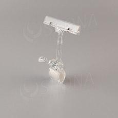 MEMO clip XL s prstom, štipec do max. priemeru 32 mm, transparentný