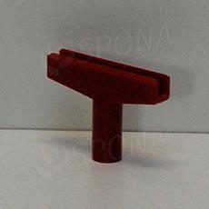 PLAGÁT-M T-kus, šírka 60 mm, červený