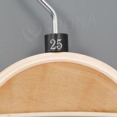 Minireitery 25, 25 ks, čierne, strieborná tlač