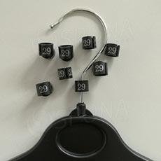 Minireitery 29, 25ks, čierne, strieborná tlač