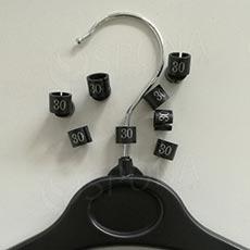 Minireitery 30, 25ks, čierne, strieborná tlač