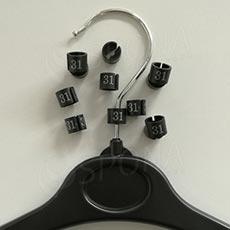 Minireitery 31, 25ks, čierne, strieborná tlač