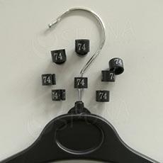 Minireitery 74, 25ks, čierne, strieborná tlač